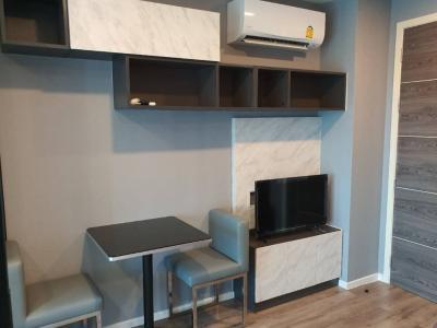 For RentCondoRatchadapisek, Huaikwang, Suttisan : Modiz Ratchada 32 Layout for rent, separate kitchen, high floor, unblock view, full electrical appliances