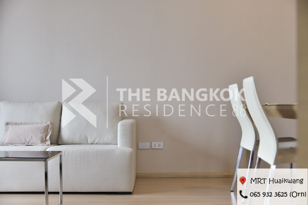 For SaleCondoRatchadapisek, Huaikwang, Suttisan : Condo for sale at Rhythm Ratchada-Huaikwang, 2 bedrooms, 65 sq.m., 20+ floor, new condition, almost never owner, only 7,800,000 baht