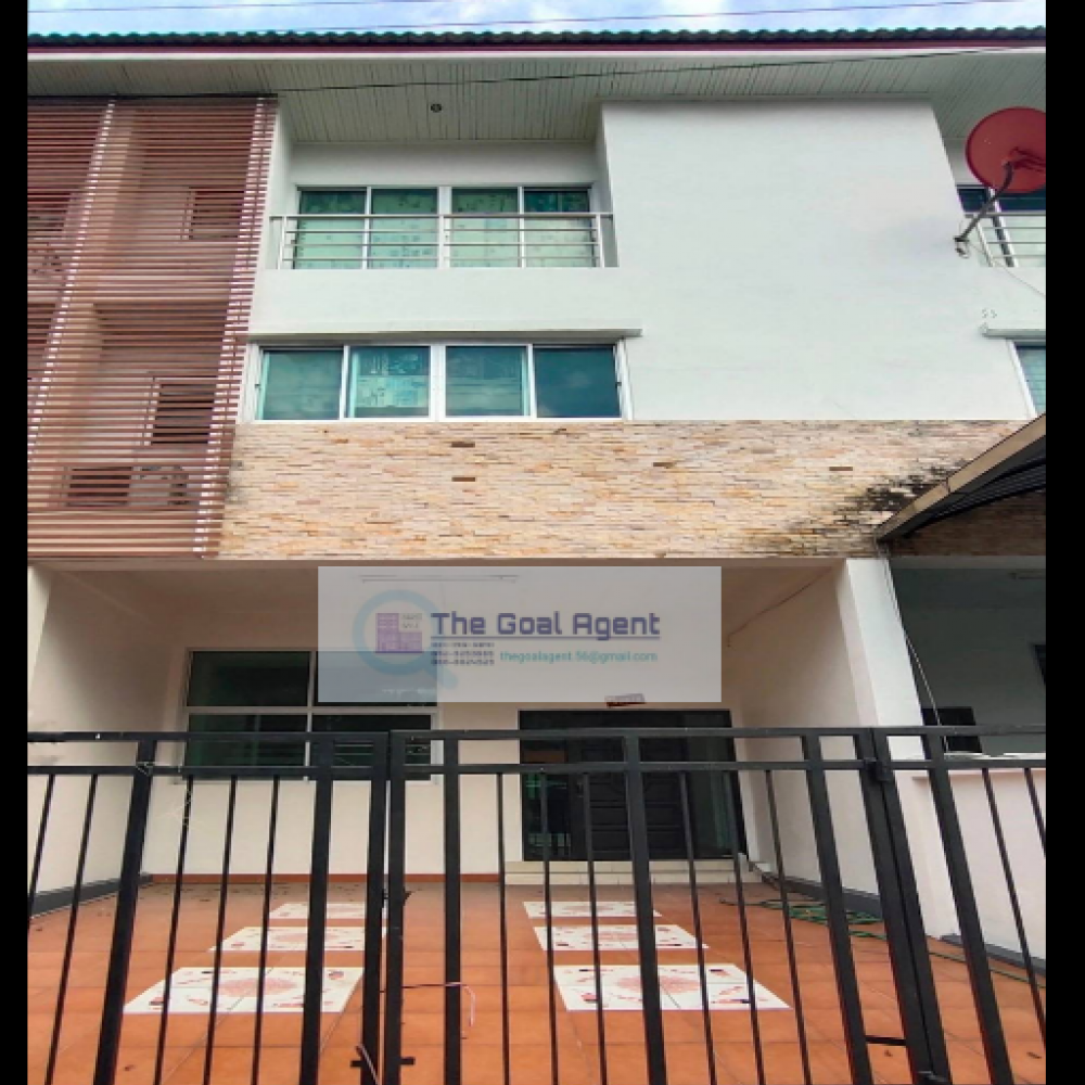 For RentHome OfficeRamkhamhaeng, Hua Mak : Office or home office for rent, 4 floors, 4 bedrooms in Siwara - Town in Town