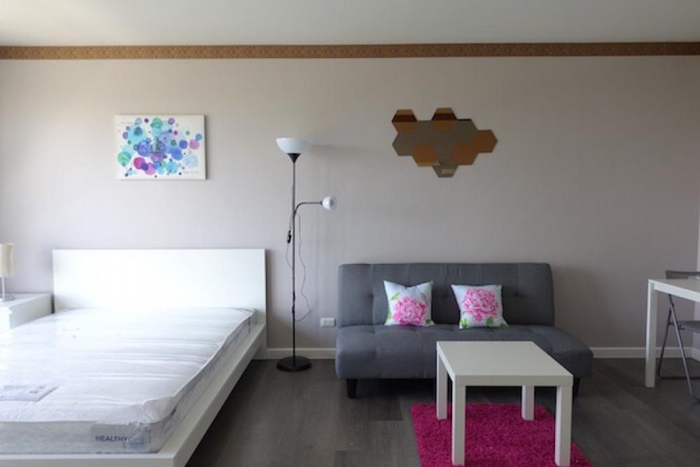 เช่าคอนโดบางนา แบริ่ง : ให้เช่า DCONCO Campus Resort Bangna (เอแบค บางนา) ชั้น 7 ตึก E (ตึกหน้าสุด) ห้องสตูดิโอ ขนาด 30 ตร.ม. เฟอร์ครบ ค่าเช่า 8,500บาท/เดือน พร้อมอยู่