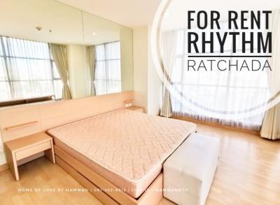 เช่าคอนโดรัชดา ห้วยขวาง : ((ช็อคราคาเช่า)) RHYTHM รัชดา ติด MRT รัชดา 2ห้องนอน 72ตรม. ห้องมุม วิวสระ ครัวปิด ราคาสุดคุ้ม!!