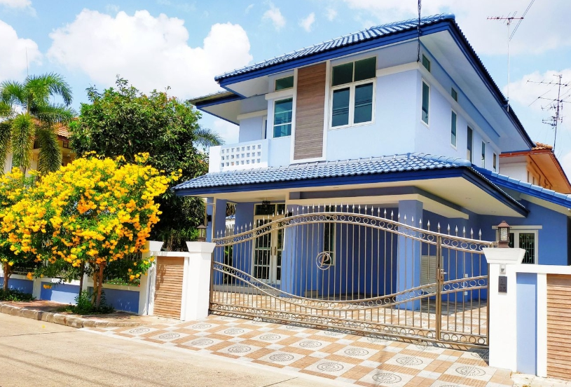 For SaleHouseLadprao101, The Mall Bang Kapi : 2-storey detached house for sale, Fah Green Park Village, Soi 101, 63 Tarawa area, 5 bedrooms, beautiful decoration, near Kaset Nawamin