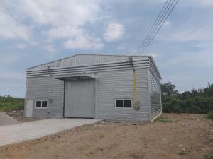For RentWarehouseRathburana, Suksawat : Warehouse for rent 100 baht / sqm. (Purple) Suksawat 84-Wat Koo Sang Industrial ring