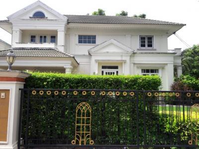 For RentHouseRamkhamhaeng,Min Buri, Romklao : 2 storey detached house for rent, Perfect Place Ramkhamhaeng 164, colonial zone, near Ruamrudee International School (RIS)