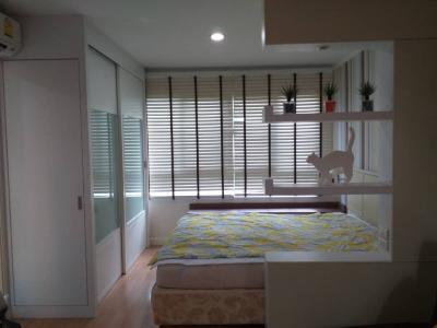 For RentCondoRamkhamhaeng, Hua Mak : ROOM FOR RENT 8,000 For rent, Condo Lumpini Ville, near ABAC University, Hua Mak, Ramkhamhaeng 26, size 29 sqm. Fully furnished, built in (no agency accepted)