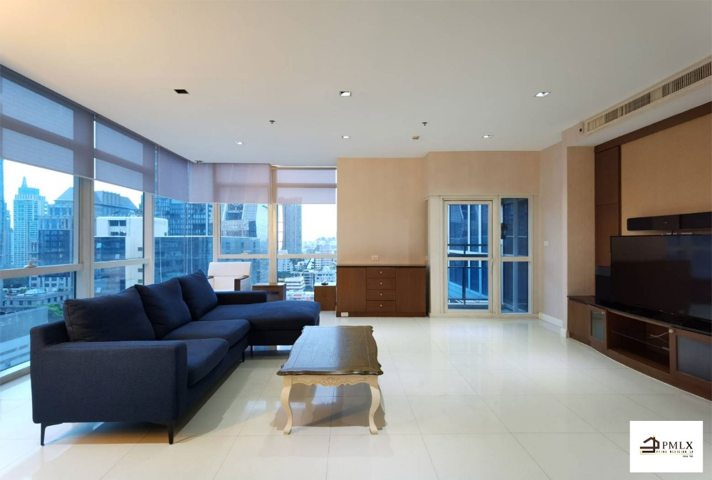For RentCondoWitthayu,Ploenchit  ,Langsuan : Athenee Residences - Beautifully Furnished 3 Bedrooms / Ready To move In / 198.92 Sqm