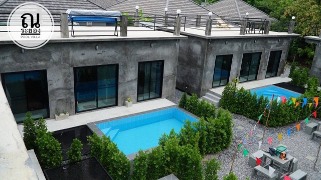 For RentHouseRayong : Pool villa & resort business for rent, new building style loft, Rayong