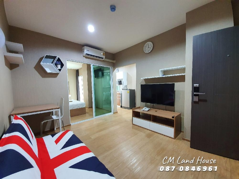 For SaleCondoChiang Mai, Chiang Rai : New condo for sale, 2 years, One Plus Jed Yod 4, room size 37 sq. M.