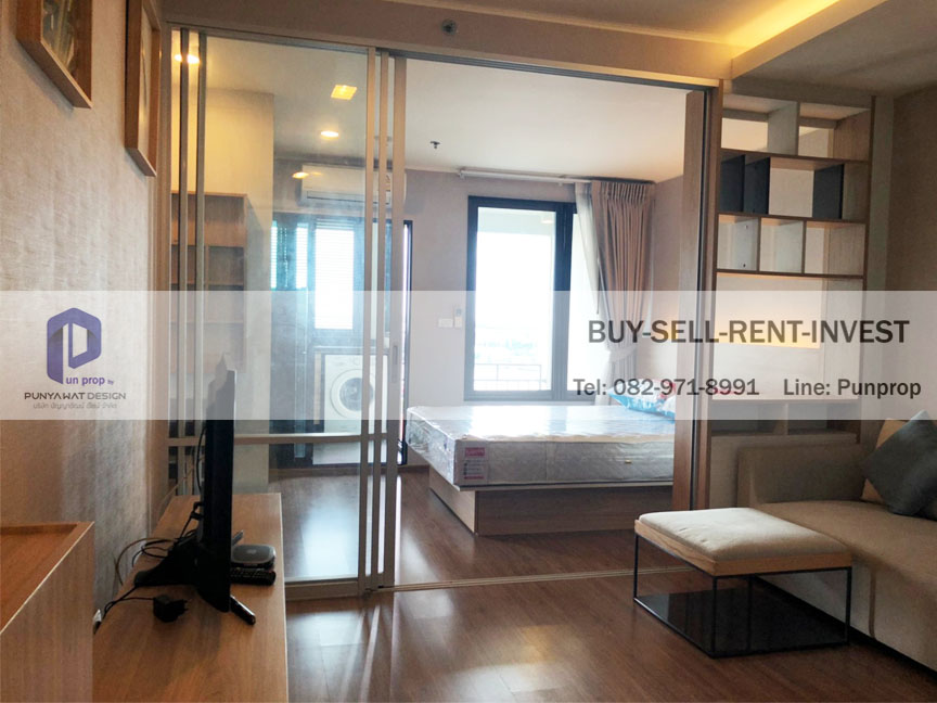 For RentCondoRama3 (Riverside),Satupadit : Condo for rent @ U Delight Residence Riverfront Rama 3, River view, 16th floor, ready to move in 13,000 baht / month
