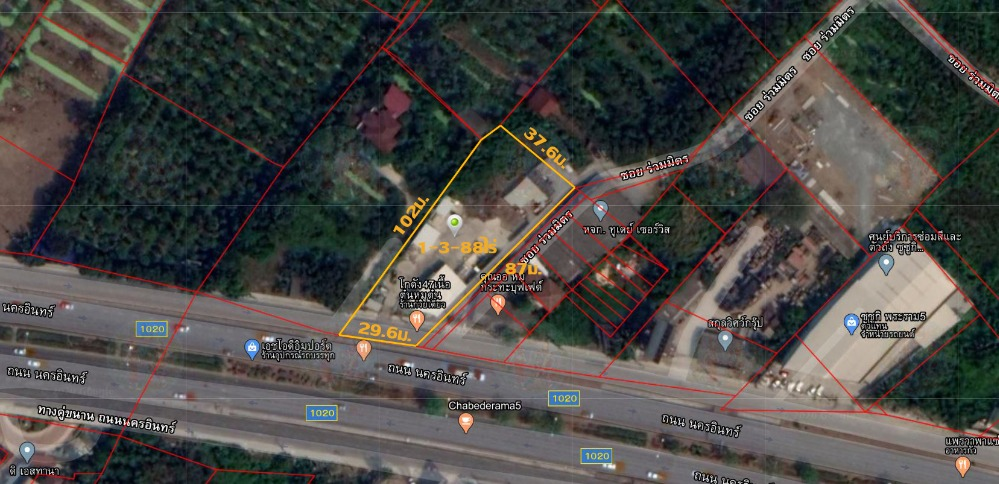 For SaleLandBangkruai, Ratchapruek : Land for sale on Nakorn-in Road