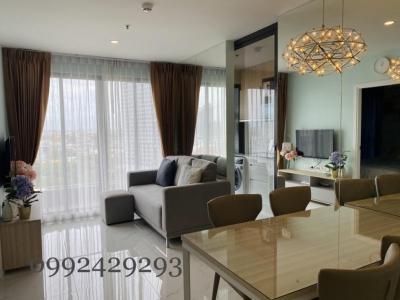 For RentCondoBangna, Lasalle, Bearing : For rent Ideo O2 Bangna, new room, beautiful decoration, contact Ben 0992429293