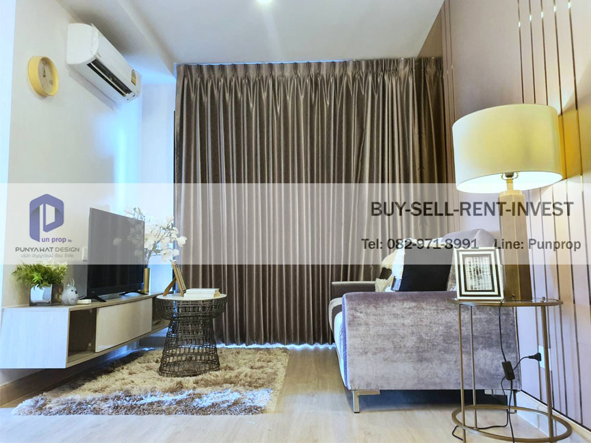 For RentCondoRattanathibet, Sanambinna : Condo for rent, Knightbridge Tiwanon, Knightsbridge Tiwanon, next to MRT, Ministry of Public Health, 43 sq m., 2 bedrooms, fully furnished, 15,000 baht