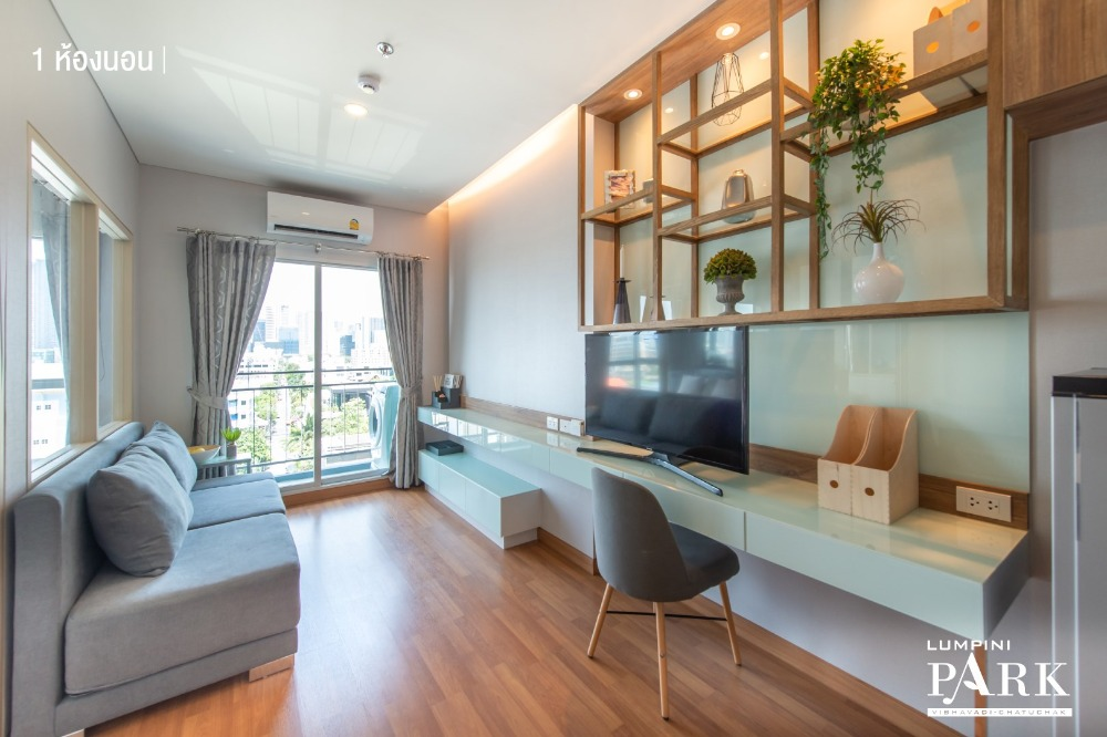 For RentCondoSapankwai,Jatujak : Condo for rent Lumpini Park Vibhavadi-Chatuchak High floor, beautiful view