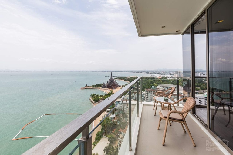 For SaleCondoPattaya, Bangsaen, Chonburi : Condo for sale, Baan Plai Beach, Pattaya, Duplex 2 bedroom, decorated beautifully