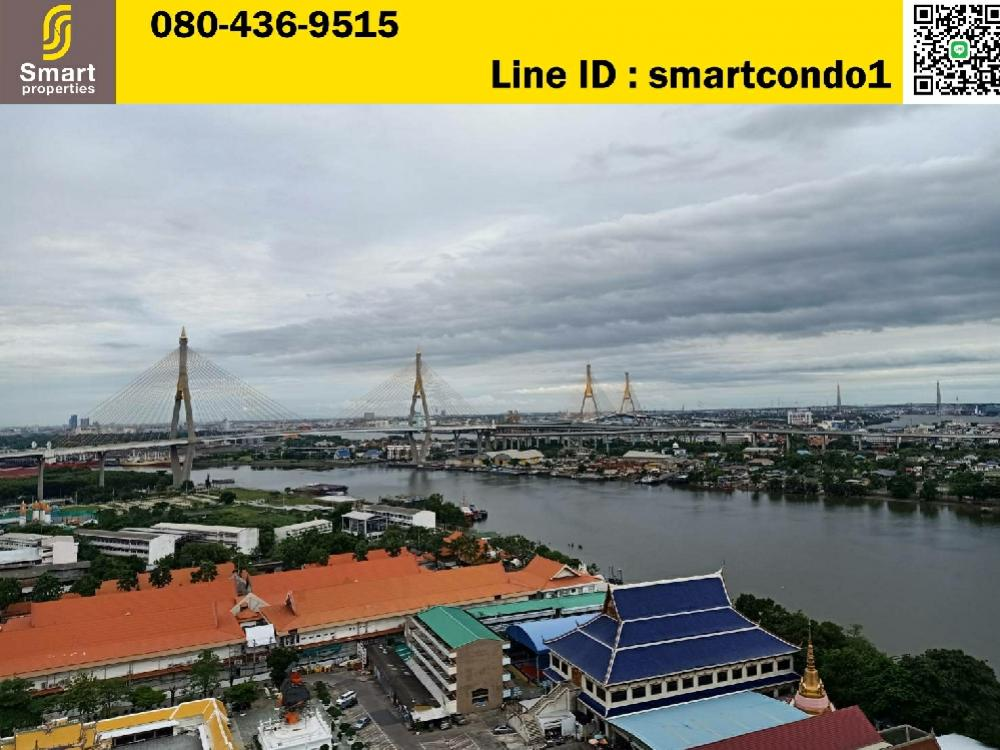 For SaleCondoRama3 (Riverside),Satupadit : Condo for sale, U Delight Residence, Riverfront, Rama 3, beautiful room, ready to move in, river view, very new room, size 34 sqm. On 23 floor