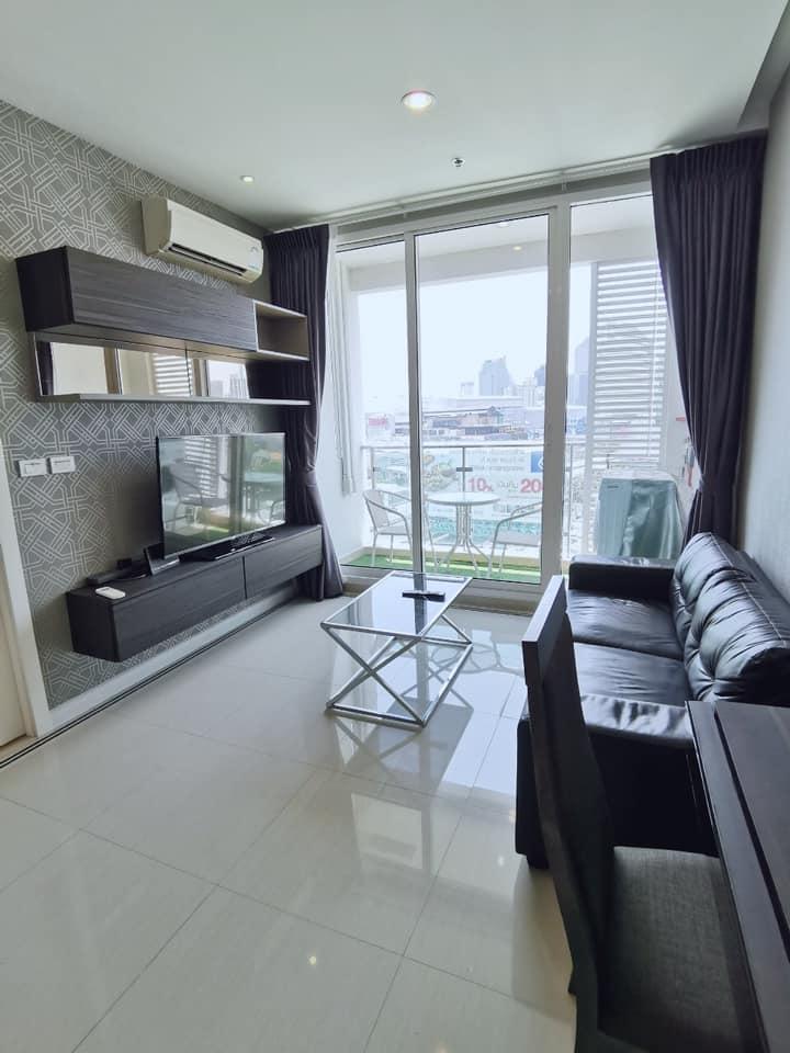 For RentCondoRama9, RCA, Petchaburi : Condo for rent at TC Green Rama 9 - Condo TC Green Rama 9, nice decoration, pool view Fully furnished Ready to move in