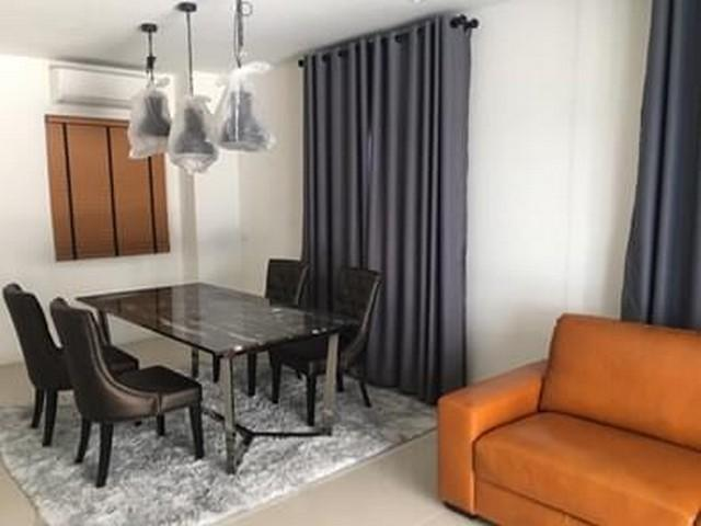 For SaleTownhouseLadprao101, The Mall Bang Kapi : 3 storey townhome for sale, behind the corner, The Connect UP3, Ladprao 126, new house, never entered. Near a bilingual school