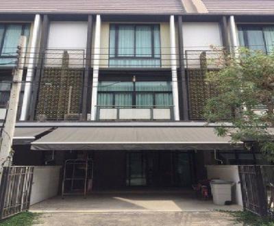 For RentTownhouseBang Sue, Wong Sawang : 3-storey townhome for rent, Flora Wong Sawang Village, beautiful decoration, fully furnished, 4 air conditioners, good location, near MRT Wong Sawang