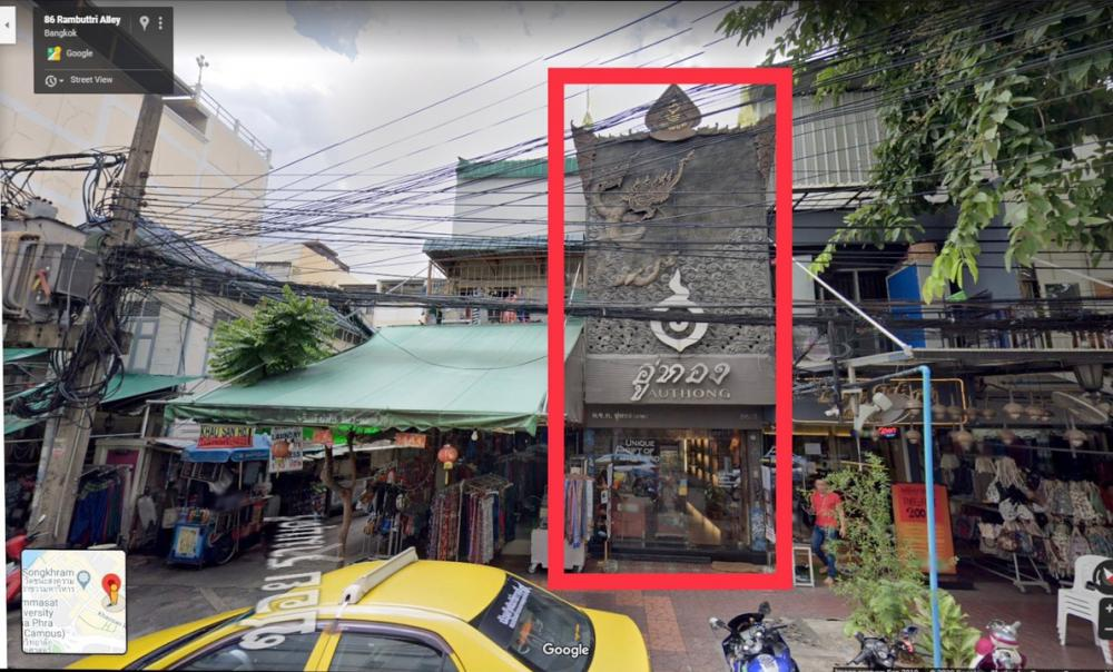 For SaleShophousePha Nakorn, Yaowarat : 3-storey commercial building, business area, near Khao San Road