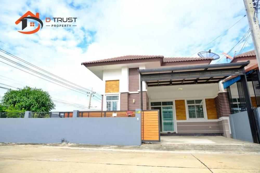 For SaleHouseSamrong, Samut Prakan : Twin house for sale, Kittinakorn Garden Ville, Soi Thanasit Bang Pla 2, area 51.7 sq.w.