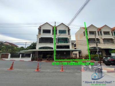 For SaleShophouseSamrong, Samut Prakan : 4-storey commercial building, Ladawan Srinakarin (Soi Si Dan 14).