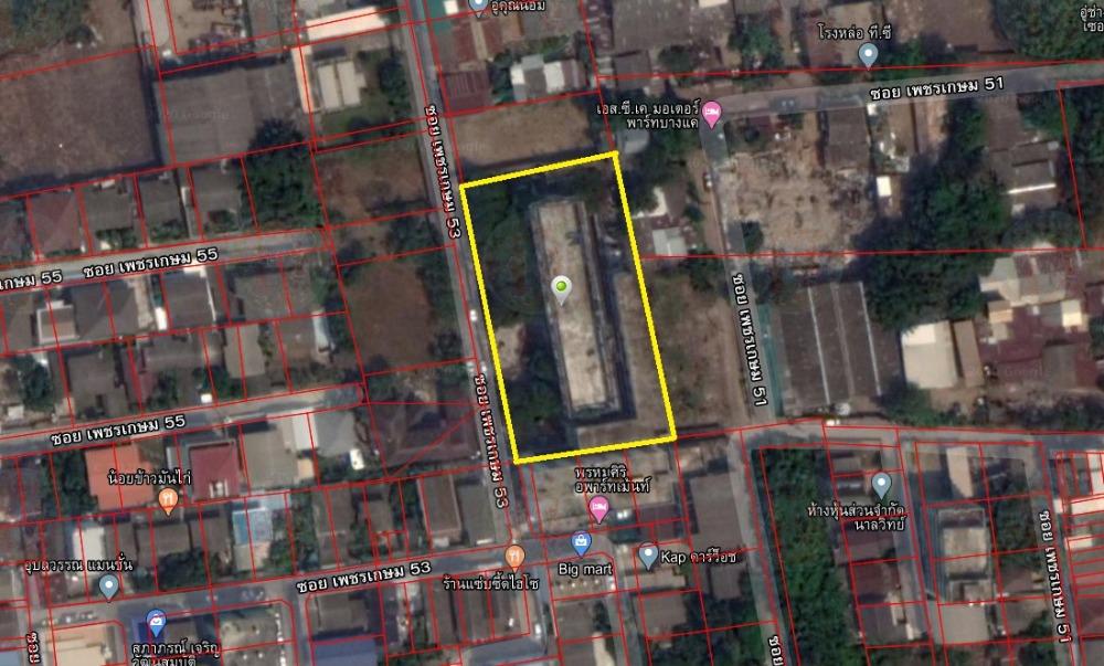 ขายที่ดินบางแค เพชรเกษม : ขายที่ดินแนวรถไฟฟ้า 937 ตรว. ซอยเพชรเกษม 53 บางแค (ติดทรัพย์)