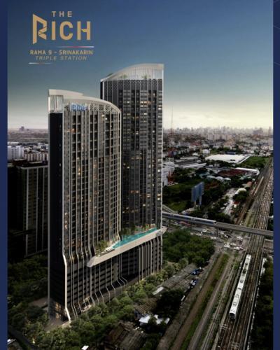 Sale DownCondoPattanakan, Srinakarin : Condo sales down The Rich Rama 9 - Srinakarin, loft room, 26th floor.