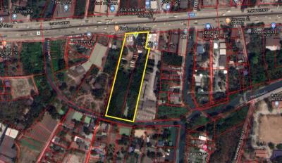 For SaleLandPhutthamonthon, Salaya : Land for sale 7 rai 3 ngan 92 sq m. Next to Petchkasem Road