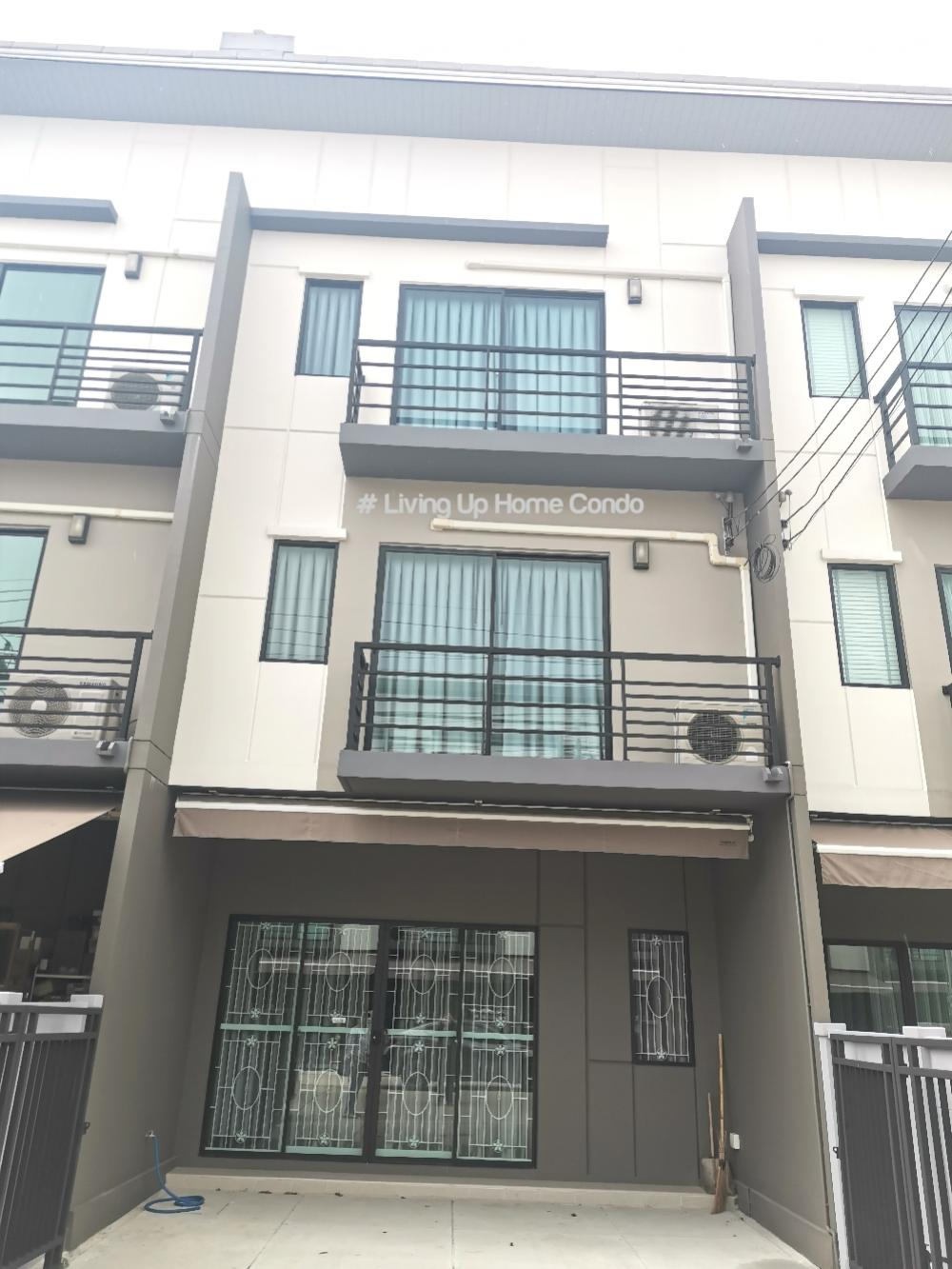 For SaleTownhousePinklao, Charansanitwong : Townhome for sale, Baan Klang Muang, Pinklao Charan 3 floors 18.7 sq m. With furniture, new houses