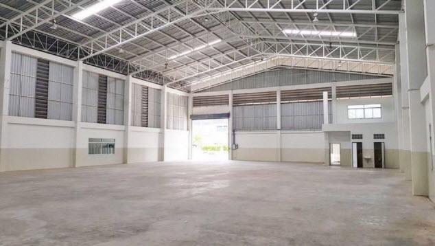 For RentWarehouseSamrong, Samut Prakan : Warehouse for rent with office, area 3,300 sq m., Purple area, Praksa 3, Samut Prakan, near BTS Praksa