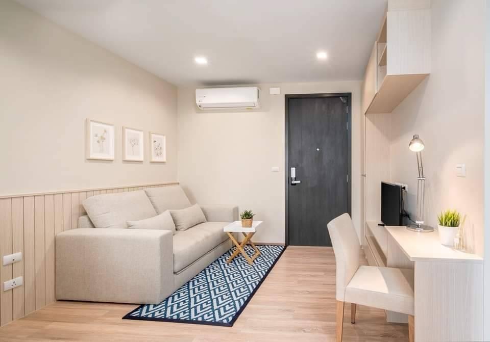 ขายคอนโดพระราม 9 เพชรบุรีตัดใหม่ : +++ ขายด่วน ห้องสวย+++ THE BASE Garden-Rama 9 *, 1 ห้องนอน ขนาด 30  ตร.ม. แต่งครบพร้อมอยู่