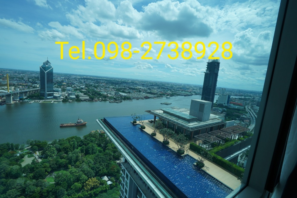 For SaleCondoRama3 (Riverside),Satupadit : Condo for sale Star View. Above the swimming pool. Full river view