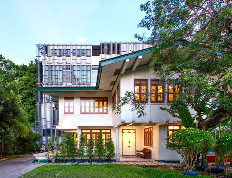For RentHouseRama3 (Riverside),Satupadit : House for rent, ready to move in, Fully Furnished, built-in and complete electrical appliances, in the heart of Sathorn