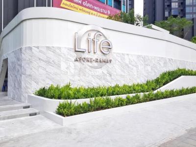 Sale DownCondoRama9, RCA, Petchaburi : Loss room, come this way! Life Asoke-Rama9 Stu room, beautiful plan, starting at only 2.97 million baht.