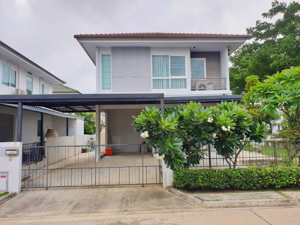 For SaleHouseRama 2, Bang Khun Thian : Very cheap sale! Behind the corner, lots of space, new condition, single house, Villaggio project (Villaggio), Bang Kradee, Rama 2, great price in Soi Bang Kradee 35/1