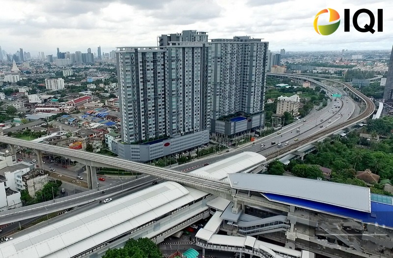 For RentCondoThaphra, Wutthakat : Condominium for rent, The President Sathorn-Ratchaphruek, location next to BTS and MRT Bang Wa Station, ready to enter Silom within 20 minutes.