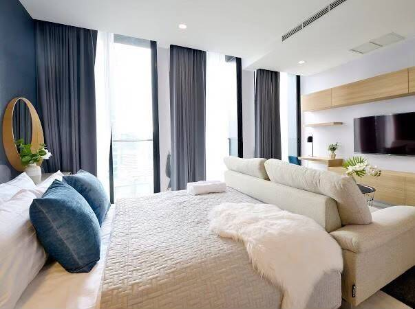 For SaleCondoWitthayu,Ploenchit  ,Langsuan : 🍑 For rent / sale, Noble Ploenchit, near BTS, size 45 sqm, complete with furniture and electrical appliances 🍑