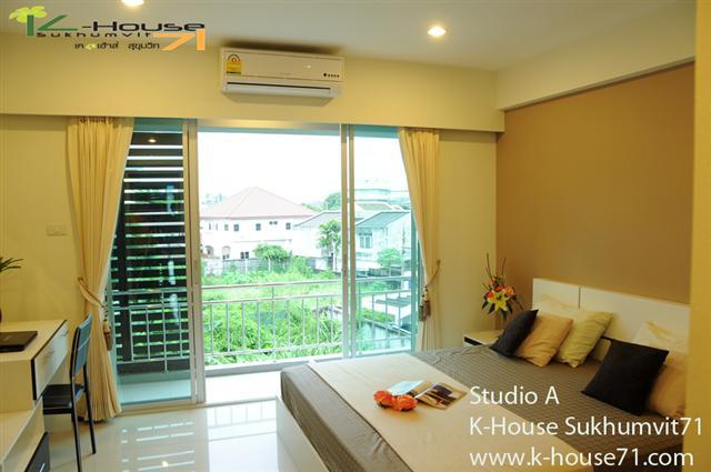 For RentCondoOnnut, Udomsuk : Apartment   Klongton  for rent K-House  Sukhumvit 71  Nice Apartment style Condo in  Klongton  @Sukhumvit 71 near BTS  Phra Khanong station    Soi Pridi Banomyong 14 Yaek 4 Tel.088-5245959