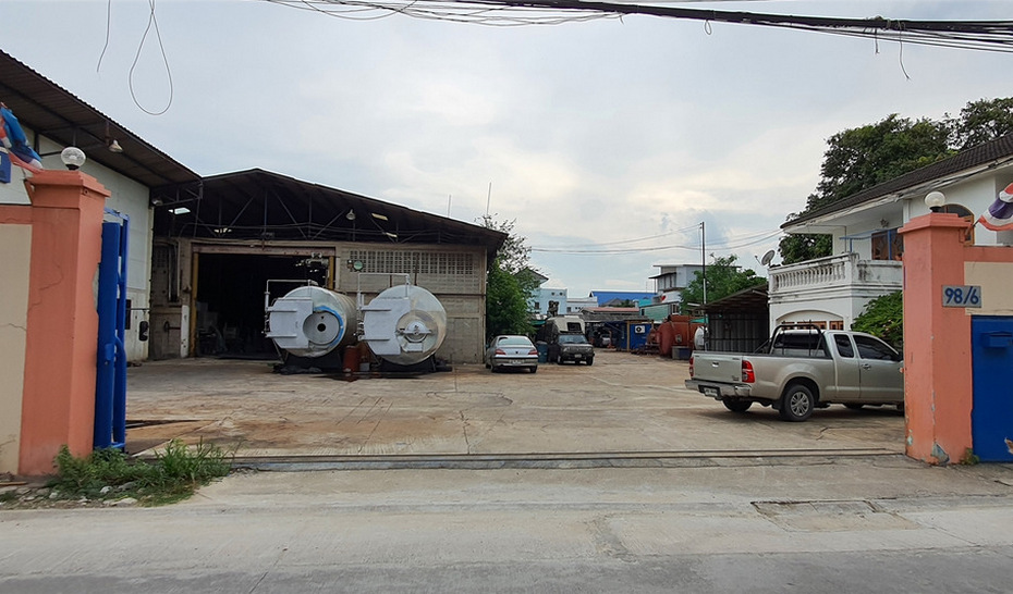 For SaleFactoryRathburana, Suksawat : Factory with office and single house Soi Suksawat 66, near Big C Suksawat, near the expressway, land 2-1-60 rai, good location