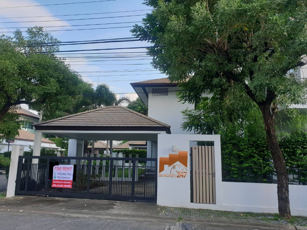 For RentHouseYothinpattana,CDC : 2 storey detached house for rent, Private Nirvana, Ladprao-Yothin Pattana 3, 3 bedrooms