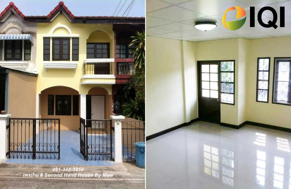 For SaleTownhouseKaset Nawamin,Ladplakao : 2-storey townhouse for sale, Chitra Village, Soi Nuanchan 20, Ramintra 40 Road, renovated the whole house.