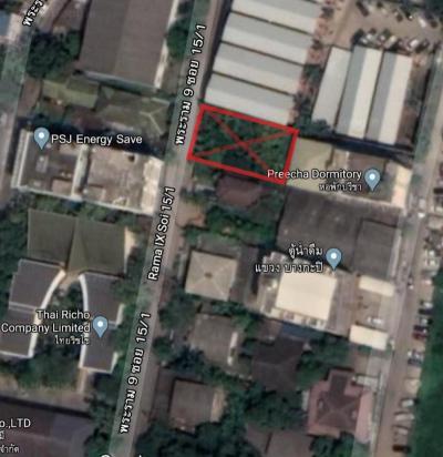 For RentLandRama9, RCA, Petchaburi : Land for Rent: Rama IX soi 15/1