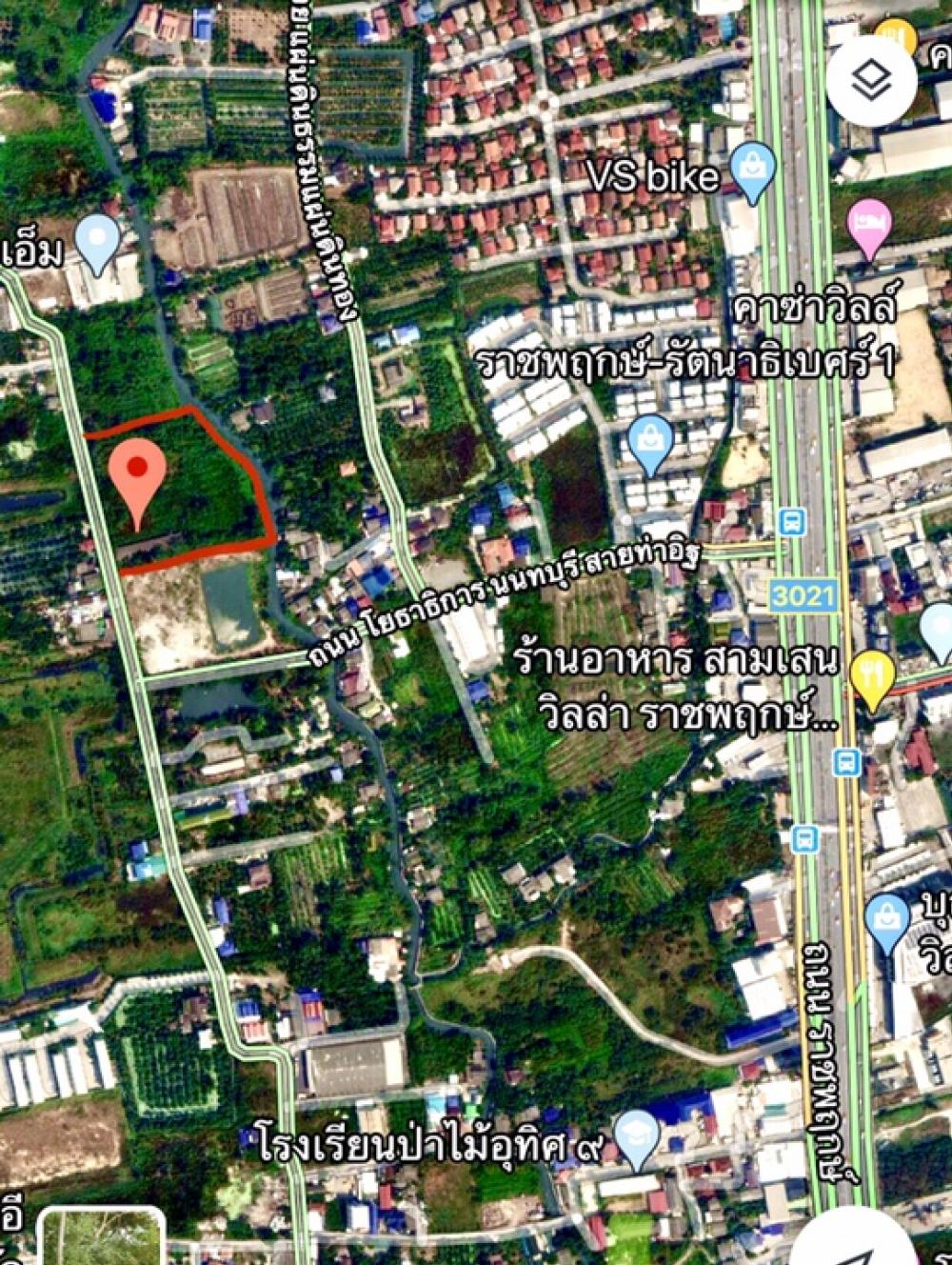 For SaleLandBangkruai, Ratchapruek : Land for sale on Ratchapruek Road 10 Rai, opposite Bunthavorn School, Denla School, Ratchaphruek Soi Bang Rak Noi 2, Bang Phai