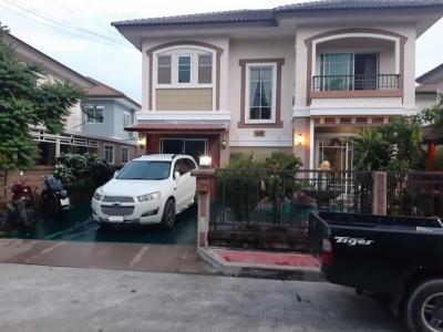 ขายบ้านสำโรง สมุทรปราการ : ขายบ้านเดี่ยว 2 ชั้น โครงการภัสสร 28 (กิ่งแก้ว-หนามแดง) ต.บางพลีใหญ่ อ.บางพลี จ.สมุทรปราการ