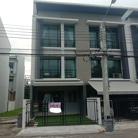 For RentTownhouseYothinpattana,CDC : AE0283 3-storey townhome for rent, Baan Klang Muang, Rama 9, Ramkhamhaeng, area 18 sq m. 3 bedrooms, 3 bathrooms.