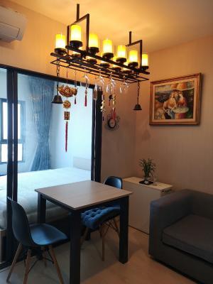 For RentCondoSamrong, Samut Prakan : # Rent Ideo Sukumvit 115, 34th floor, city view, built with wooden balcony