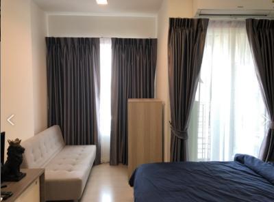 For RentCondoRatchadapisek, Huaikwang, Suttisan : Condo for rent Chapter One Eco Ratchada-Huay Kwang [For Rent Condo Chapter One Eco Ratchada-Huaykwang] Studio type, 1 bathroom, 11th floor, area 23 sq.m., rent 8,500 baht / month
