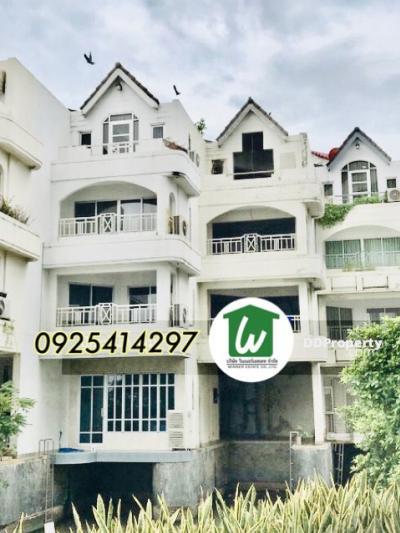 For SaleTownhousePinklao, Charansanitwong : For sale, town home, home office, Bangkok River Marina, Bangkok River Marina, 5 bedrooms, 4 bathrooms, Chao Phraya River view, Rama 8 Bridge (ZTH253).
