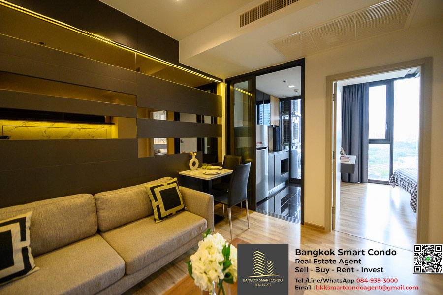 For SaleCondoSapankwai,Jatujak : The best price, the best view in the project, The Line Chatuchak - Mochit, 1 bedroom, 34.86 sq m, beautiful built in, only 5.95 million baht.