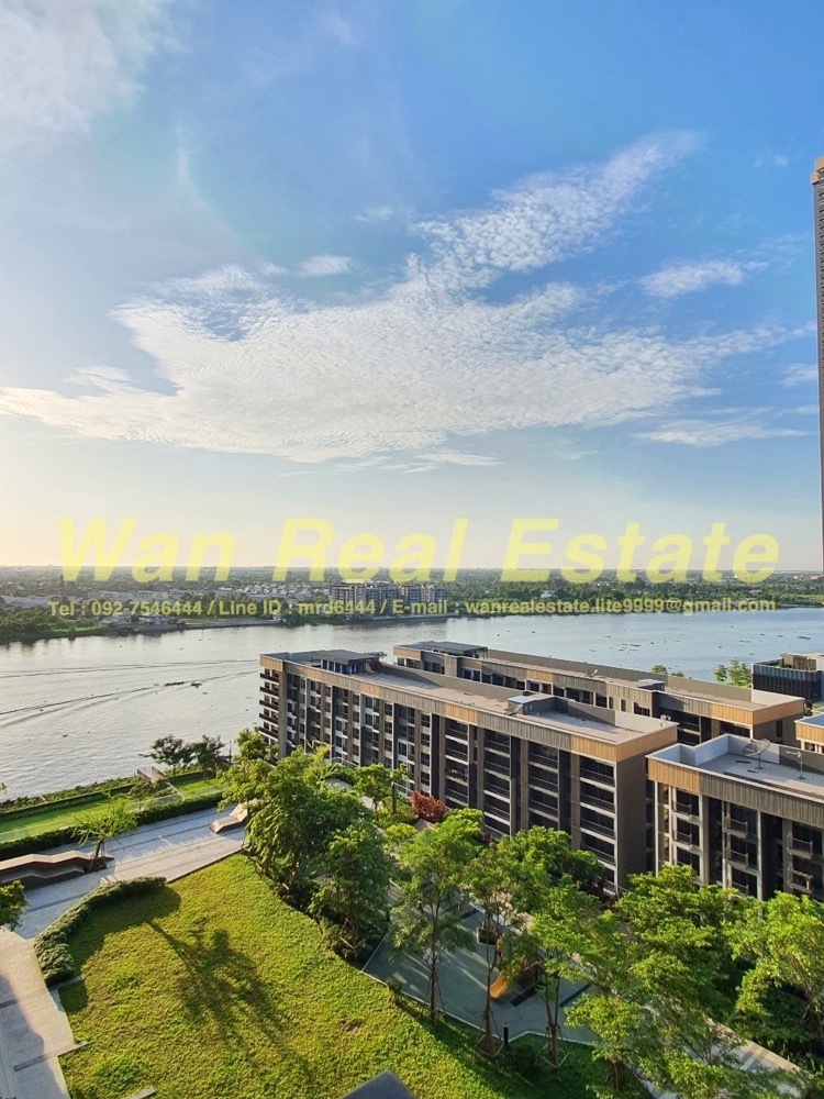 For RentCondoRattanathibet, Sanambinna : Condo for rent politan rive along the Chao Phraya River, size 30 sq.m., 15th floor, beautiful river garden view, ready to move in.